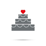 Festive Cake for Valentines Day Icon Royalty Free Stock Image