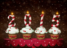 Festive cakes. Greeting card or illustration of a Happy New Year. Computer graphics Royalty Free Stock Photography