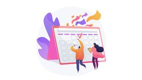 Festive calendar event 4K loop animation.
