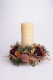 Festive candle Stock Image