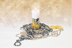 Festive candle Royalty Free Stock Photo