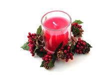 Festive candle Royalty Free Stock Image