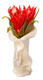 Festive candle as red tulips Royalty Free Stock Images