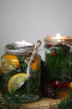 Festive candle Royalty Free Stock Photos