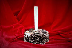 Festive candle Stock Photo