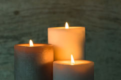 Festive Candles. Royalty Free Stock Photos