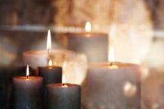 Festive candles Stock Photos
