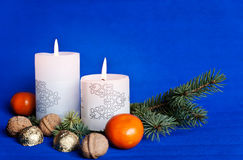 Festive candles Royalty Free Stock Images