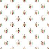 Festive candles pattern, cartoon style. Festive candles pattern. Cartoon illustration of festive candles vector pattern for web Stock Images
