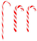 Festive Candy canes isolated. On white background Stock Photography