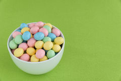 Festive Candy Coated Easter Eggs Royalty Free Stock Photo