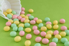 Festive Candy Coated Easter Eggs Royalty Free Stock Images