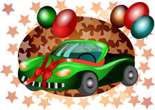 Festive car. Festive background with an abstract car Royalty Free Stock Photo