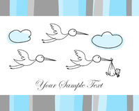 Festive card. Hand drawn infant card for design use stock illustration