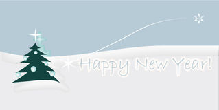 Festive card. Happy New Year! Text on snow Royalty Free Stock Images