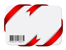 Festive card with barcode. Illustration for the web Stock Photography