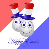 The festive card happy Easter for Luxembourg 2. The card happy Easter for Luxembourg 2 Royalty Free Stock Photography