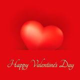 Festive Card with Heart. Festive Valentines Day Card with Heart Stock Photo