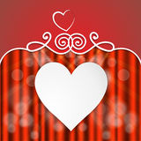 Festive card with hearts. Holiday card valentine's heart with a place for inscription Royalty Free Stock Photography