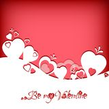 Festive card with hearts label on Valentine's day. February 14 - day for all lovers Royalty Free Stock Image