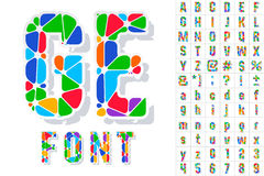 Festive Carnival Font Stock Photos
