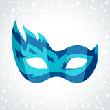 Festive carnival mask on background of confetti Royalty Free Stock Photography