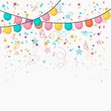 Festive celebration background. Festive celebration background with colorful balloons and confetti decoration Stock Photos