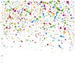 Festive Celebration Bright Confetti Isolated on White. Background Stock Images