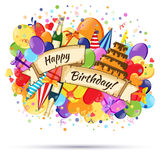 Festive Celebration Happy Birthday background. Festive Celebration Happy Birthday colorful background. Design element Royalty Free Stock Images