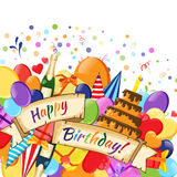 Festive Celebration Happy Birthday background Stock Photos