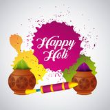 Festive celebration powder color for happy holi. Vector illustration Royalty Free Stock Photography