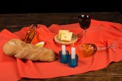 Festive challah of Hanukkah Royalty Free Stock Images