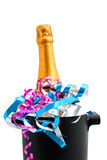 Festive champagne in cooler Royalty Free Stock Photography