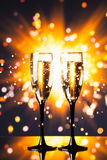 Festive champagne glass Royalty Free Stock Photography