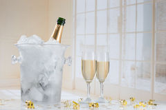 Festive champagne stock photo