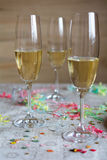 Festive champagne glasses Stock Photo