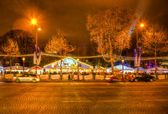 Festive Champs Elysees Royalty Free Stock Photos