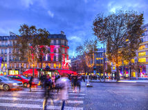 Festive Champs Elysees Royalty Free Stock Photography