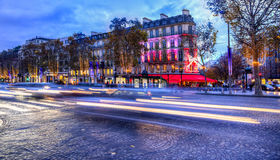Festive Champs Elysees Stock Photography