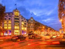 Festive Champs Elysees Stock Photos