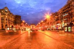 Festive Champs Elysees Stock Photo