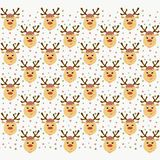 Festive cheerful background with deer heads and multicolored con. Fetti vector illustration
