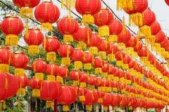 Festive chinese lantern decorations Stock Images