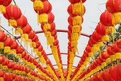 Festive chinese lantern decorations Royalty Free Stock Photos