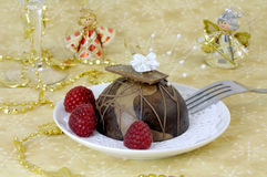 Festive chocolate cake Royalty Free Stock Photos
