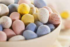 Festive Chocolate Easter Candy Eggs Royalty Free Stock Photography