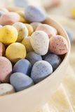 Festive Chocolate Easter Candy Eggs Royalty Free Stock Images