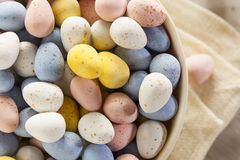 Festive Chocolate Easter Candy Eggs Stock Images
