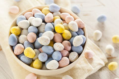 Festive Chocolate Easter Candy Eggs Stock Photo