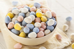 Festive Chocolate Easter Candy Eggs Stock Image